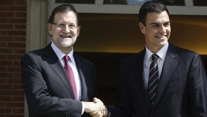 Pedro Sánchez, Rajoy, Moncloa, reunió, trobada,  PSOE, PP