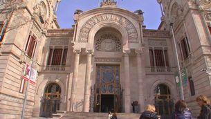 Entrada de l'edifici del Tribunal Superior de Justícia de Catalunya