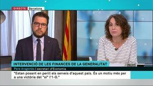 """Aragonès: """"Els treballadors públics cobraran la nòmina amb absoluta tranquil·litat"""""""