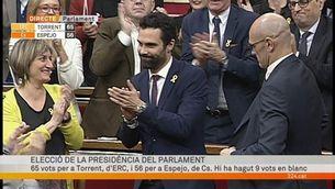 Roger Torrent, elegit nou president del Parlament