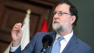 Mariano Rajoy aquest dissabte a Las Palmas de Gran Canaria (EFE)