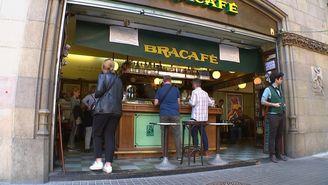 El Bracafé al número 2 del carrer de Casp, a Barcelona
