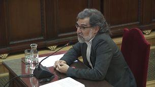 Jordi Cuixart durant la intervenció final al judici del procés