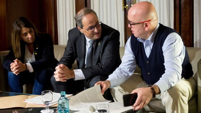El president Quim Torra amb el seu advocat, Gonzalo Boye (EFE)