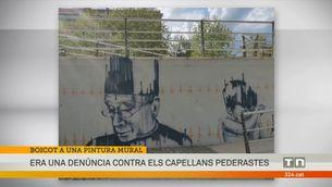 Fan desaparèixer un mural que denunciava els casos de capellans pederastes a Cambrils