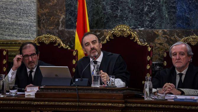 El jutge Manuel Marchena, durant el judici del procés al Suprem