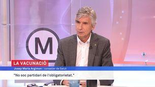 """Josep M. Argimon: """"L'aforament a la cultura s'ampliarà al 100% d'aquí quinze dies"""""""