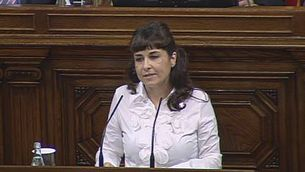 Intervenció de la representant de la presentació de la ILP en el debat de les corrides