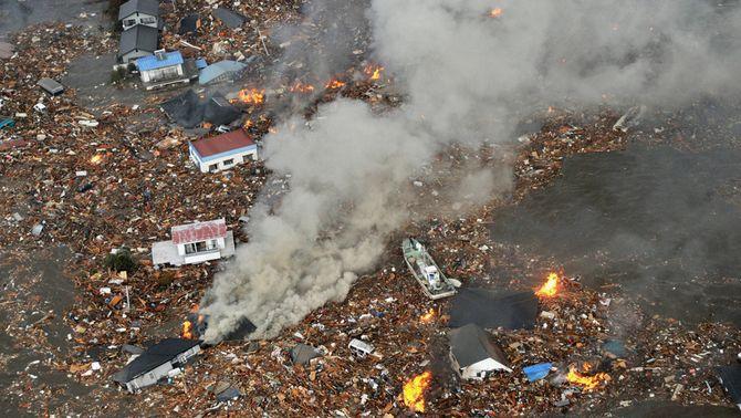 Destrucció provocada pel terratrèmol del Japó (Foto: Reuters)