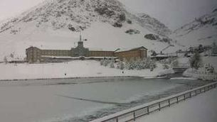 Paisatge blanc a la Vall de Núria. (Foto: El meu temps / Pau Garcia Rius)