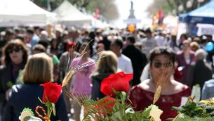 Tradicionalment, un Sant Jordi en cap de setmana perjudica les vendes