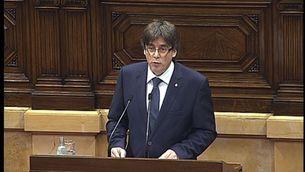 """Puigdemont: """"Estarem preparats per fer el referèndum la segona quinzena de setembre"""""""
