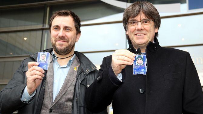 """Puigdemont i Comín volen anar a Perpinyà per """"celebrar els triomfs judicials"""""""