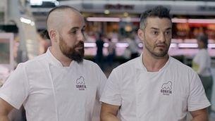 David Bastus i David Manrique, dos emprenedors al mercat de Sabadell