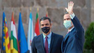 Pedro Sánchez i Felip VI a la conferència de presidents de divendres passat