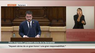 Discurs de Pere Aragonès com a president electe de la Generalitat