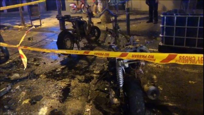 Motos cremades a Barcelona