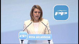 María Dolores de Cospedal, en acte de suport a Rita Barberà com a alcaldessa de València.