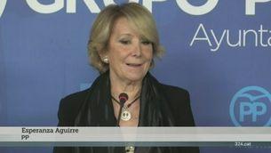 Declaracions d'Esperanza Aguirre