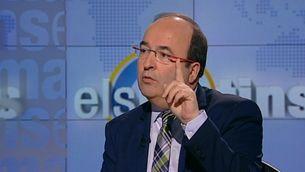 """El primer secretari del PSC, Miquel Iceta, al plató de """"Els matins"""" de TV3"""