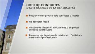 Nou codi de conducta per a alts càrrecs i entitats públiques