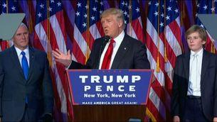 Donald Trump, en el seu primer discurs després de guanyar les eleccions