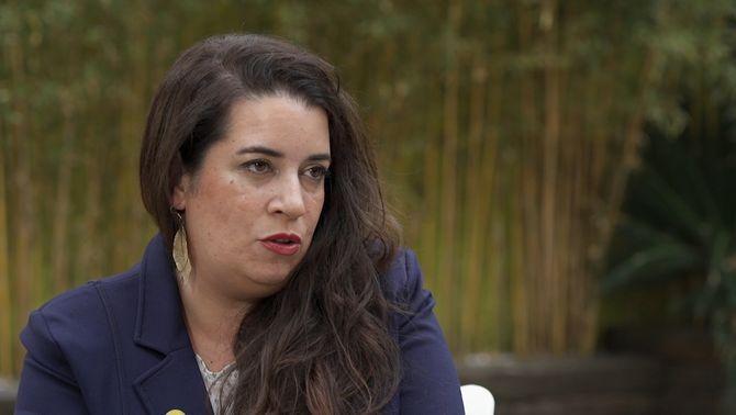 """Tamara Carrasco quan va intervenir al """"Preguntes freqüents"""""""