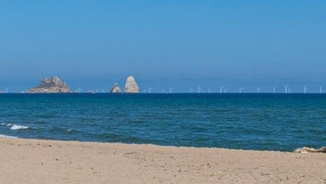 Imatge de:A wind farm off the Costa Brava - the debate is on