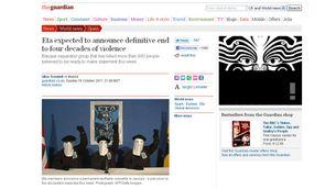 """""""The Guardian"""" ha informat que el final d'ETA podria tenir lloc aquesta mateixa setmana."""