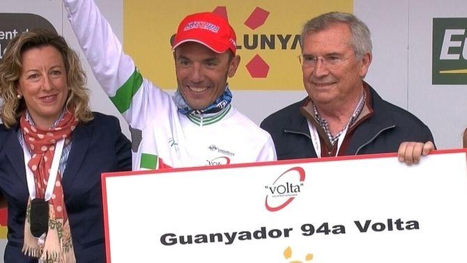 Purito Rodríguez s'emporta la seva segona Volta a Catalunya en una última etapa passada per aigua