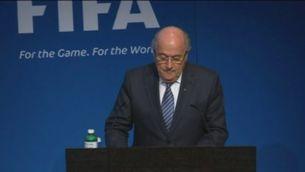Joseph Blatter dimiteix com a president de la FIFA