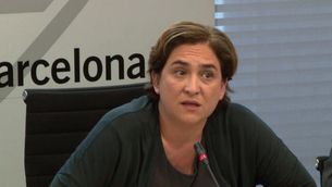 Ada Colau confia que es trobin solucions al conflicte del Banc Expropiat