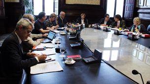 La mesa del Parlament reunida (ACN)