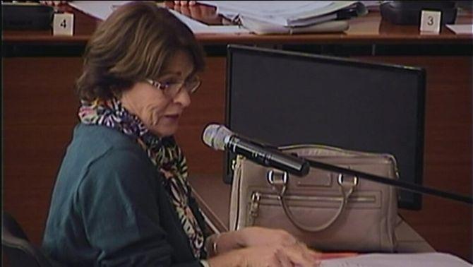 Rosa Garicano, aquest dijous durant la declaració al judici pel cas Palau