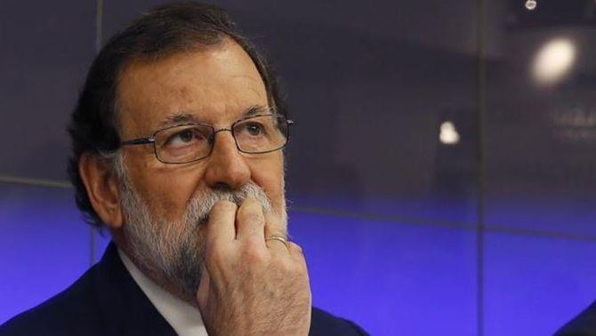 Mariano Rajoy, molt pendent del que passi al Parlament (EFE)
