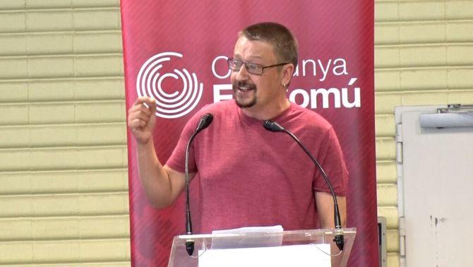 Xavier Domènech, durant la seva intervenció