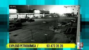 L'explosió a la petroquímica de Tarragona des d'una càmera de seguretat