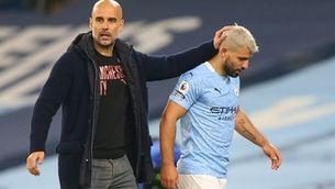 Agüero, dolgut amb Guardiola per la seva sortida del City