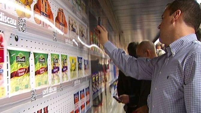 Sorli Discau posa en marxa un supermercat virtual a l'estació de FGC de Sarrià pioner a Europa