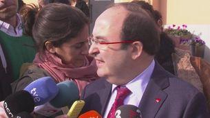 Declaracions d'Iceta sobre un possible pacte PSOE-Podem