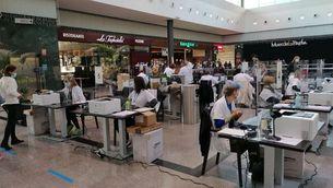 Primer cribratge massiu en un centre comercial: més de 3.000 PCR a Mataró Parc