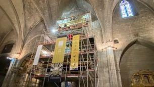 L'orgue de Solsona, en plena restauració
