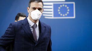 Sánchez aquest dimarts arribant al Consell Europeu que s'ha celebrat a Brussel·les (EFE / Olivier Hoslet)