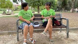 Vania Arana i Míriam Hernández, del col·lectiu Kellys Barcelona