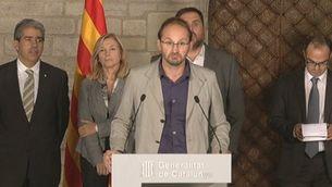 Intervenció de Mas i dels portaveus