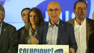 Josep Antoni Duran i Lleida en la passada nit electoral