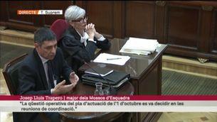 """Trapero: """"El dispositiu plantejat pels comandaments dels Mossos tenia com a objectiu complir el mandat judicial"""" [vídeo]"""