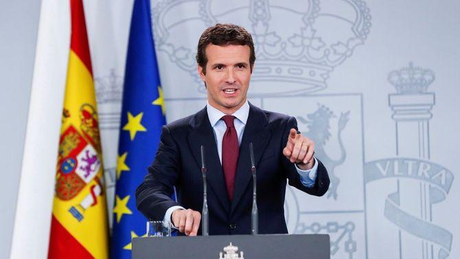 Casado portarà al Constitucional que s'autoritzi Puigdemont a anar a les europees