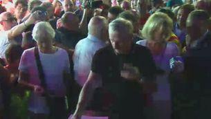 Johan Cruyff vota al costat de Joan Laporta