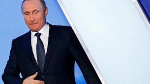 Putin durant un acte públic aquest dijous a Sant Petersburg (EFE)